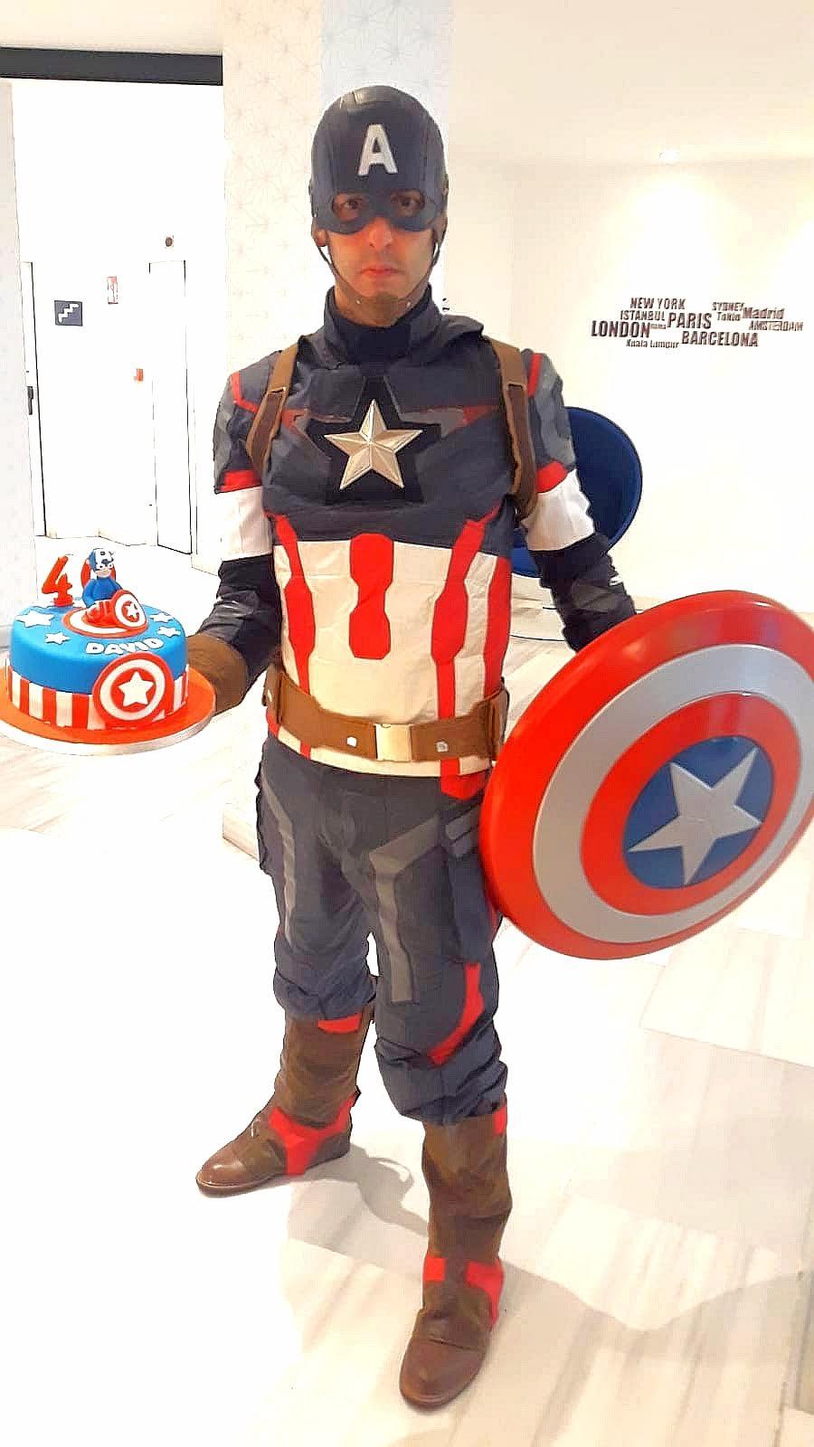 Animaciones infantiles con Capitán América